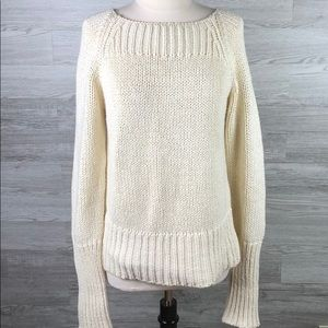 Sweaters - Ivory Knit 100% Cotton Sweater